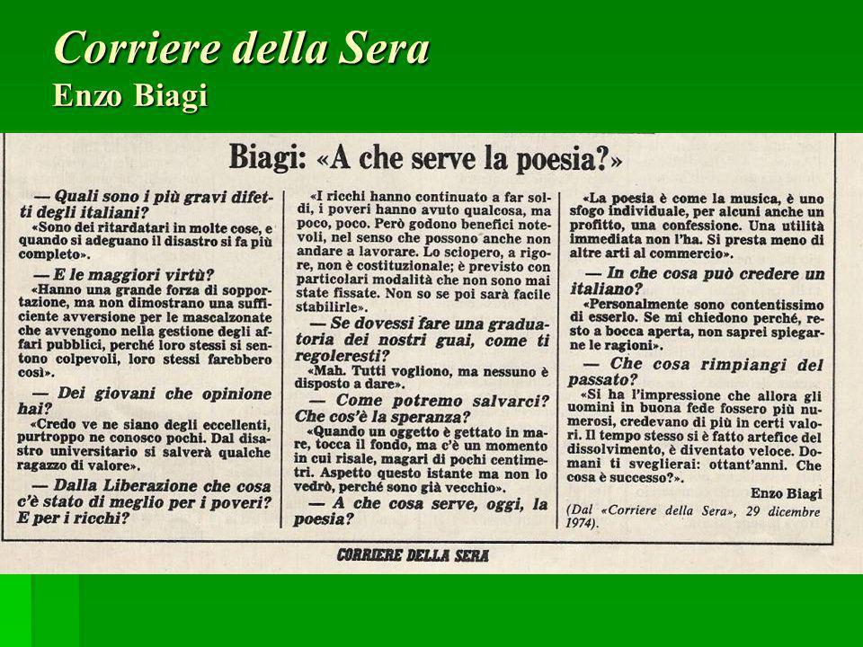 Corriere della Sera Enzo Biagi