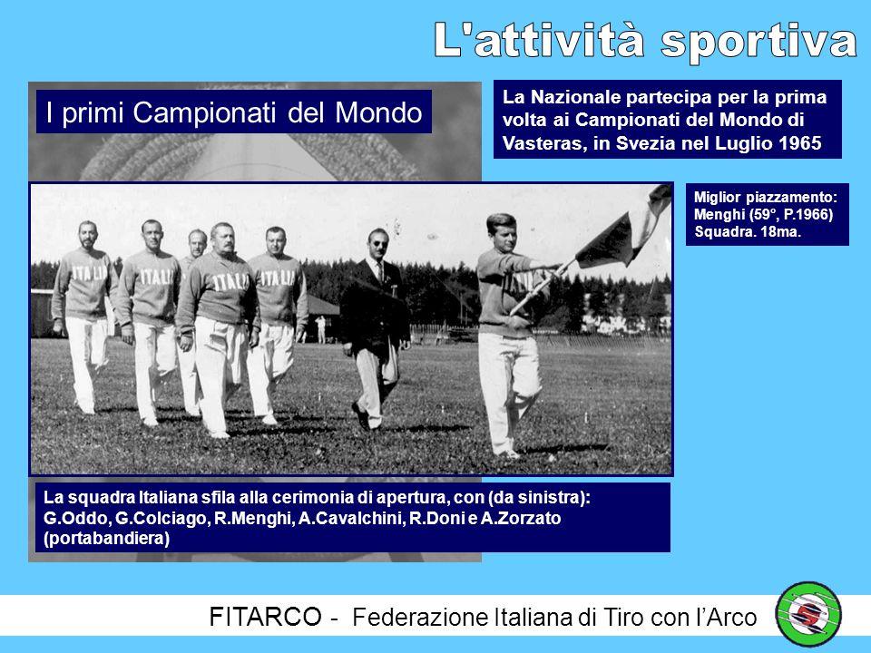 FITARCO - Federazione Italiana di Tiro con lArco La prima volta di una Nazionale Italiana di Tiro con lArco è stata in occasione della COPPA EUROPA, organizzata a Parigi il 14 luglio1962, subito dopo i primi Campionati Nazionali.
