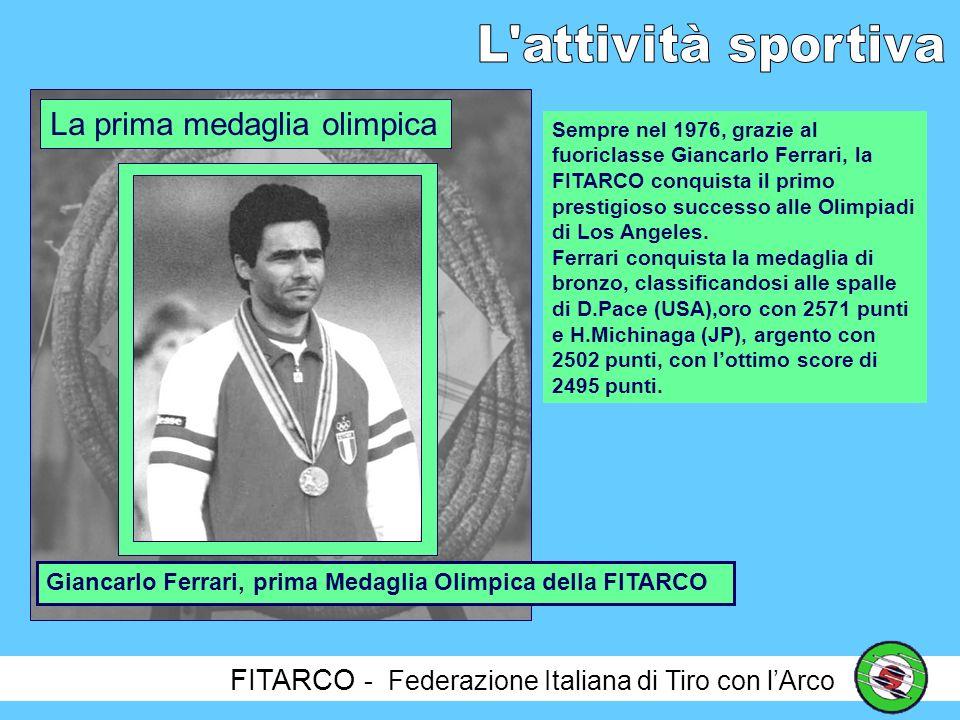 FITARCO - Federazione Italiana di Tiro con lArco Nel 1976, al Torneo Frecce di Primavera svoltosi a Tallin (URSS), Sante Spigarelli passa, per la prima volta nella storia FITARCO e per la seconda volta nel Mondo dopo Darrel Pace, il punteggio di 1300 punti nel FITA.