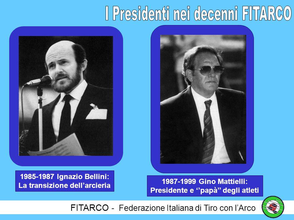 FITARCO - Federazione Italiana di Tiro con lArco 1969-1980 Franceso Gnecchi Ruscone: Il carisma e la professionalità 1980-1985 Luigi Pagotto: Un gentiluomo con una difficile eredità