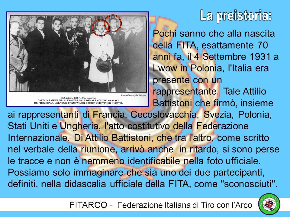 FITARCO - Federazione Italiana di Tiro con lArco Così scriveva Ugo Ojetti anni fa.
