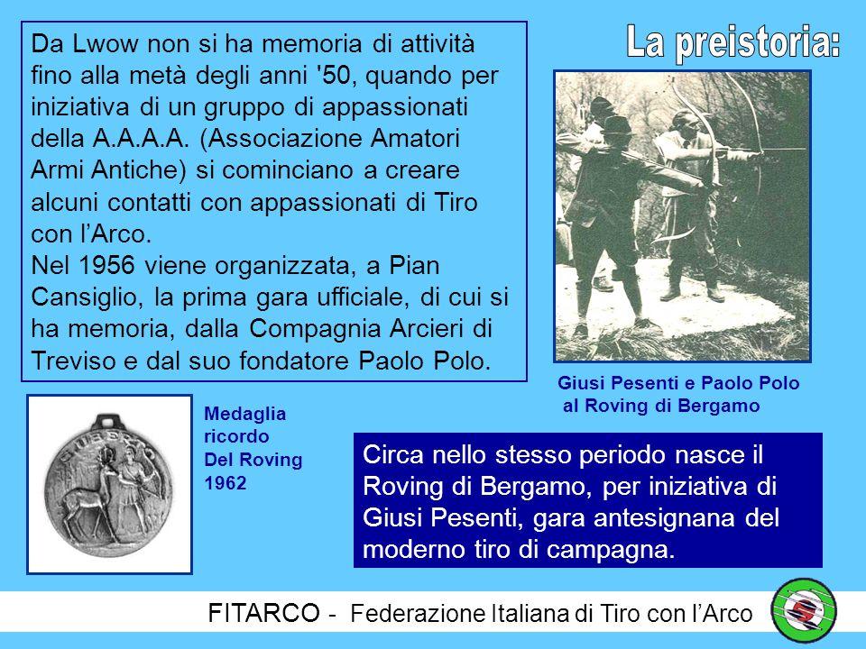 FITARCO - Federazione Italiana di Tiro con lArco Pochi sanno che alla nascita della FITA, esattamente 70 anni fa, il 4 Settembre 1931 a Lwow in Polonia, l Italia era presente con un rappresentante.