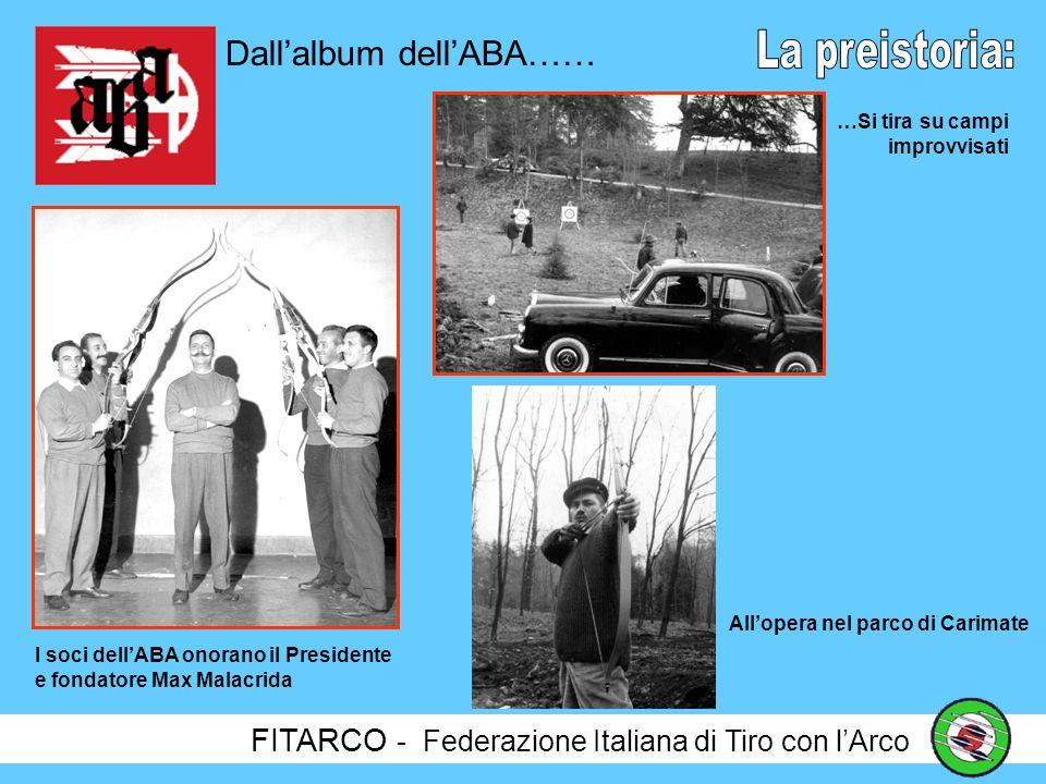 FITARCO - Federazione Italiana di Tiro con lArco Nel 1958 viene fondata lABA Milano (Associazione Balestrieri Arcieri) e nel 1959 nasce la prima gara a livello subito internazionale: Il Torneo Ambrosiano.