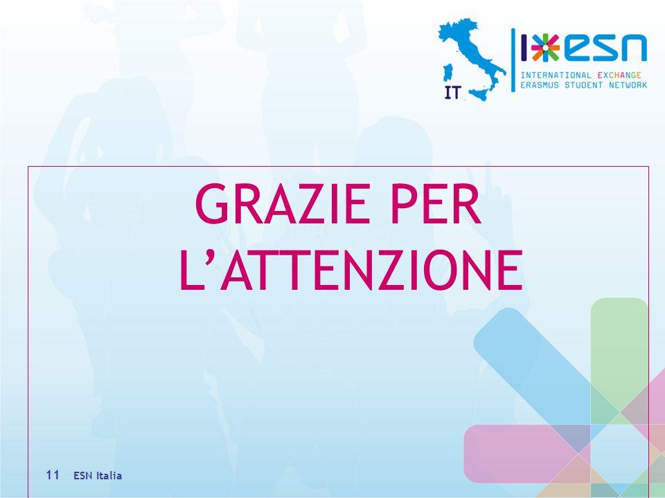 GRAZIE PER LATTENZIONE ESN Italia 11