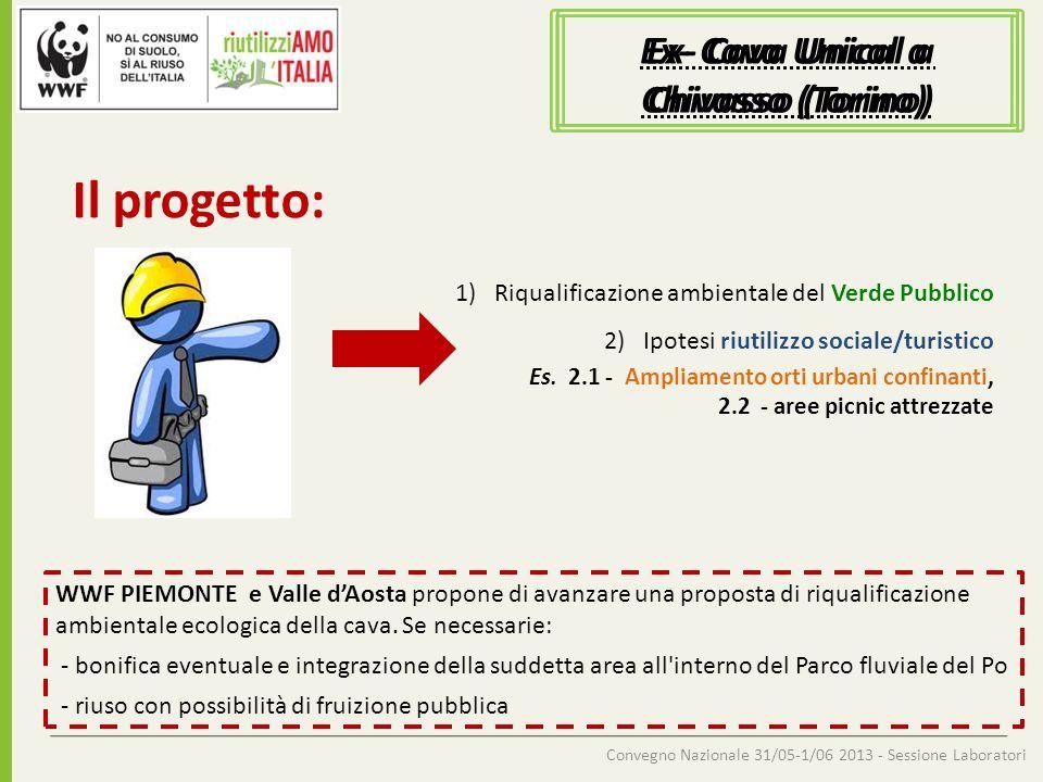 Convegno Nazionale 31/05-1/06 2013 - Sessione Laboratori Ex- Cava Unical a Chivasso (Torino) Il progetto: 1)Riqualificazione ambientale del Verde Pubb