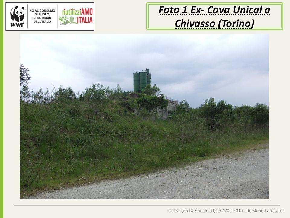 Convegno Nazionale 31/05-1/06 2013 - Sessione Laboratori Foto 2 Ex- Cava Unical a Chivasso (Torino) Entrata zona cava