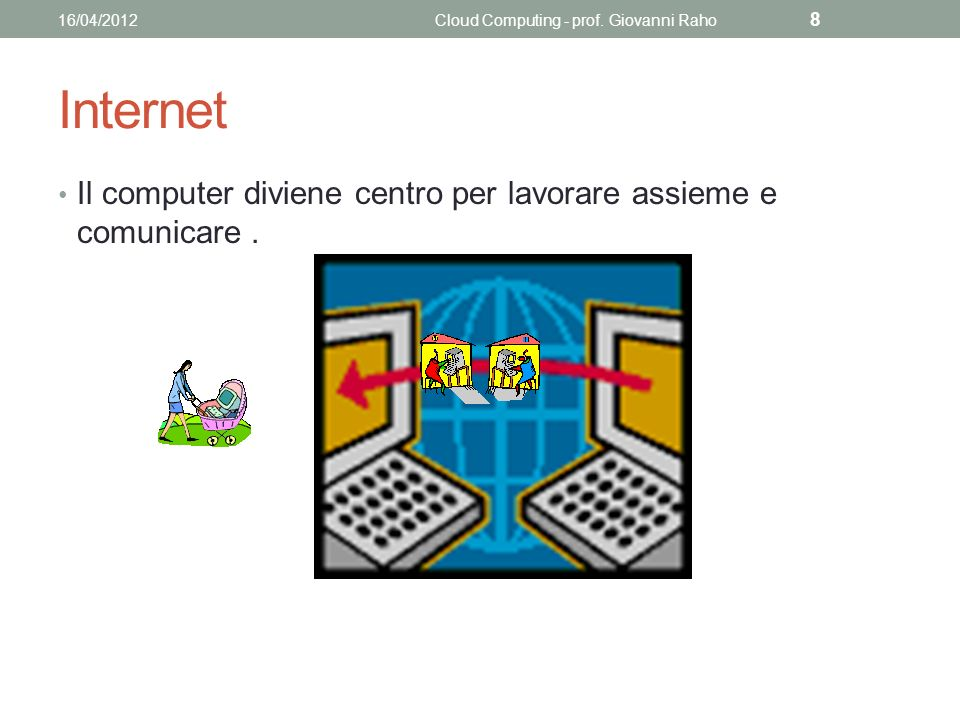 Internet Il computer diviene centro per lavorare assieme e comunicare.