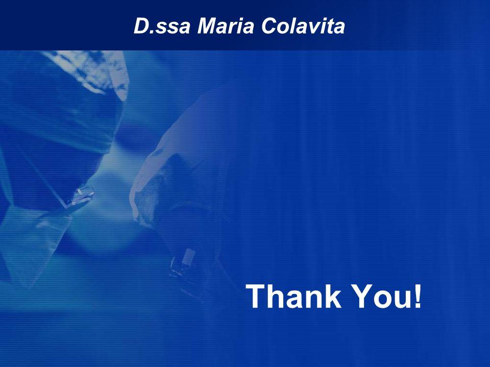 Thank You! D.ssa Maria Colavita