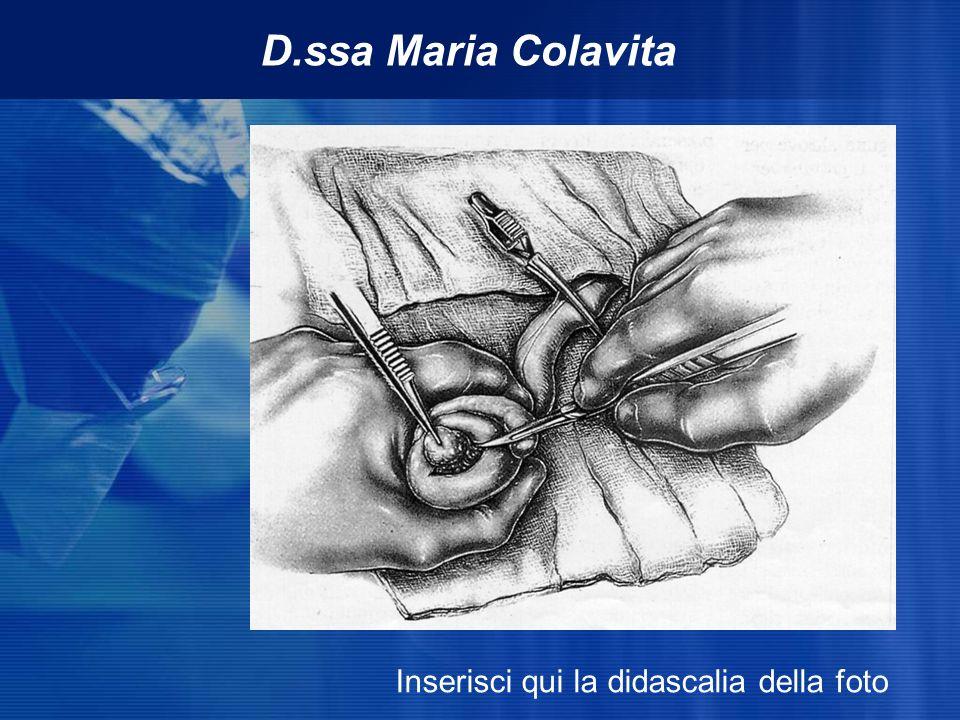 D.ssa Maria Colavita Inserisci qui la didascalia della foto