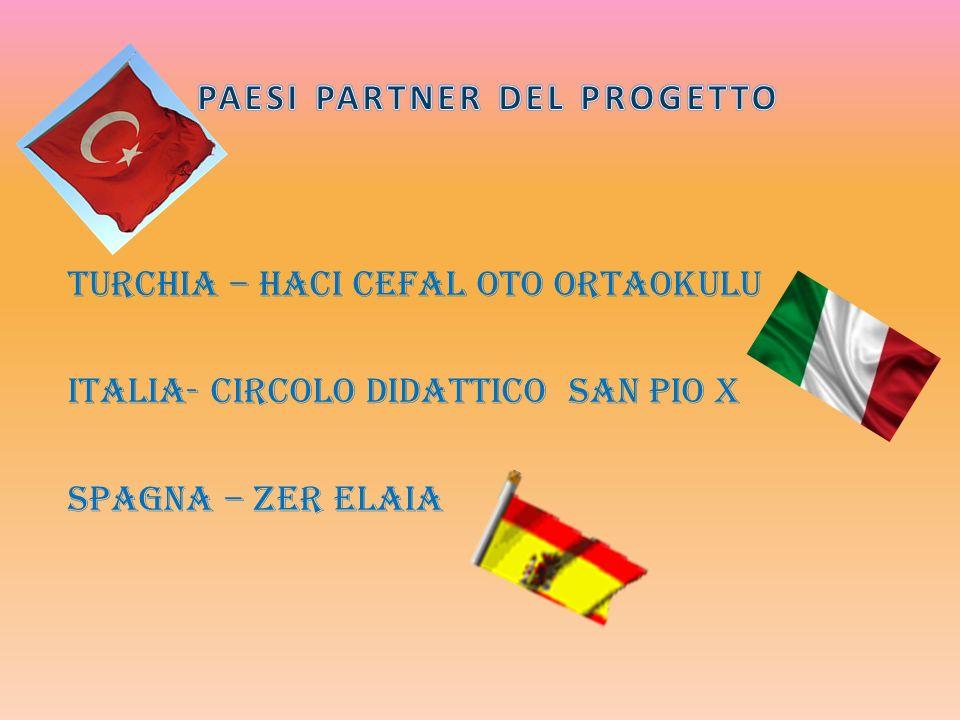 TURCHIA – HACI CEFAL OTO ORTAOKULU ITALIA- CIRCOLO DIDATTICO SAN PIO X SPAGNA – ZER ELAIA