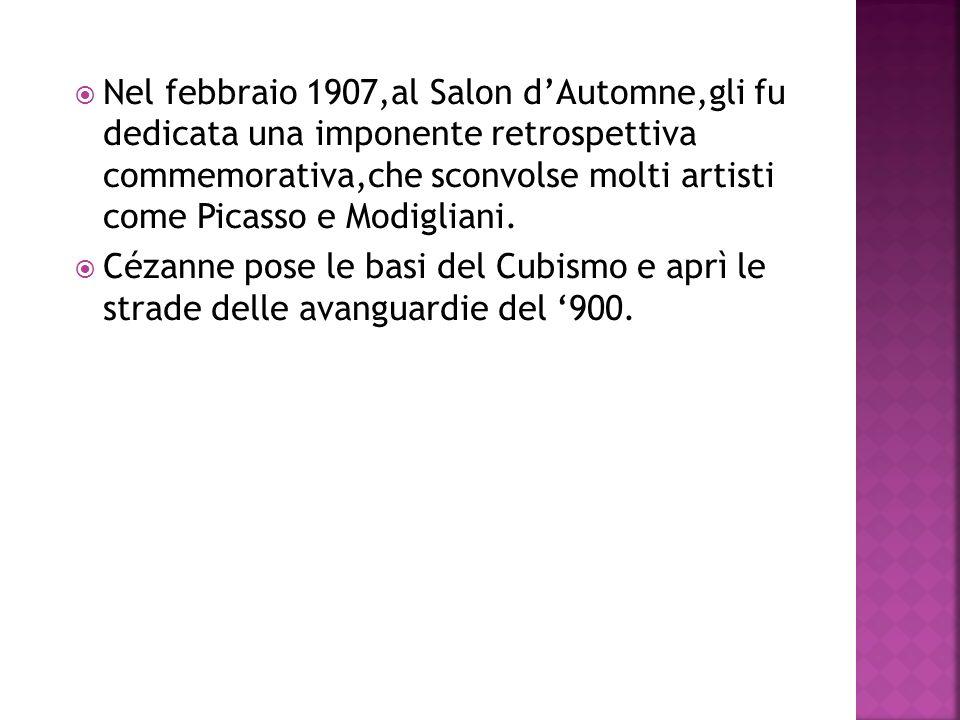 Nel febbraio 1907,al Salon dAutomne,gli fu dedicata una imponente retrospettiva commemorativa,che sconvolse molti artisti come Picasso e Modigliani. C