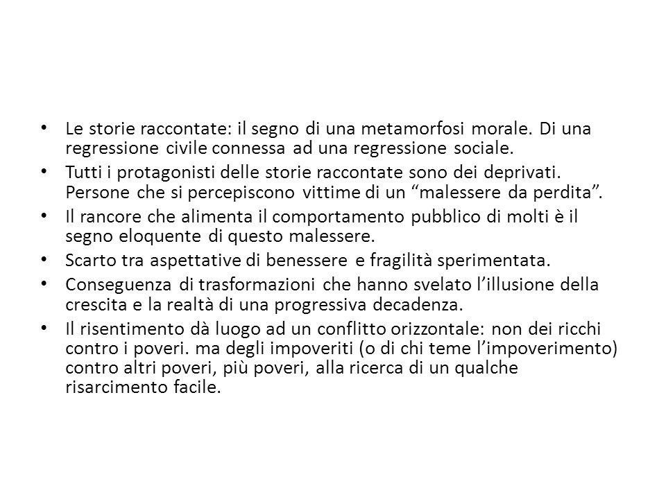 Differenze nella distribuzione della povertà relativa Valore percentuale Emilia Romagna3,8 Lombardia4,4 Sicilia28,8 Basilicata28,8 Campania25,5 Calabria25,9