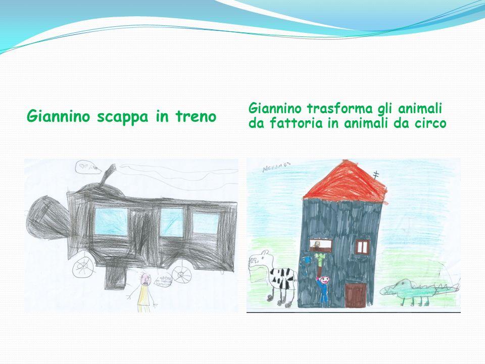 Giannino scappa in treno Giannino trasforma gli animali da fattoria in animali da circo