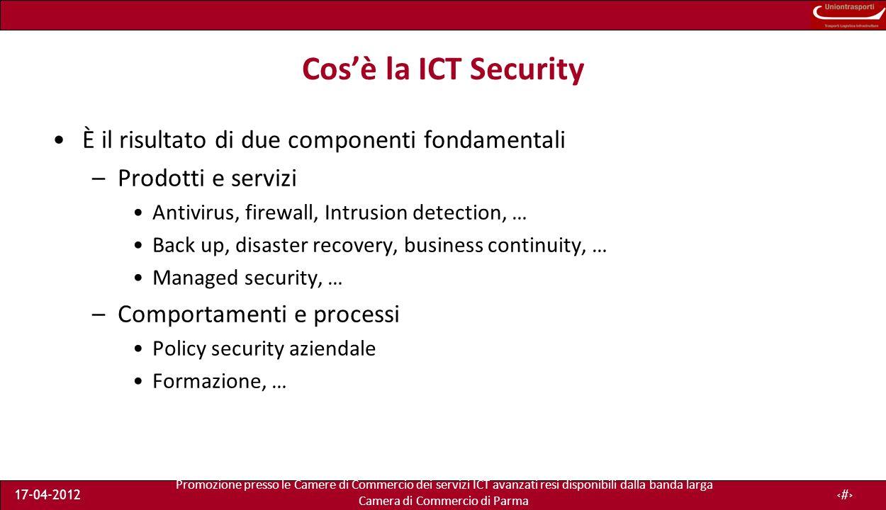 Promozione presso le Camere di Commercio dei servizi ICT avanzati resi disponibili dalla banda larga Camera di Commercio di Parma 17-04-201235 Breve parentesi sulla privacy nel cloud Cosa accade quando i dati sono conservati in un server estero.