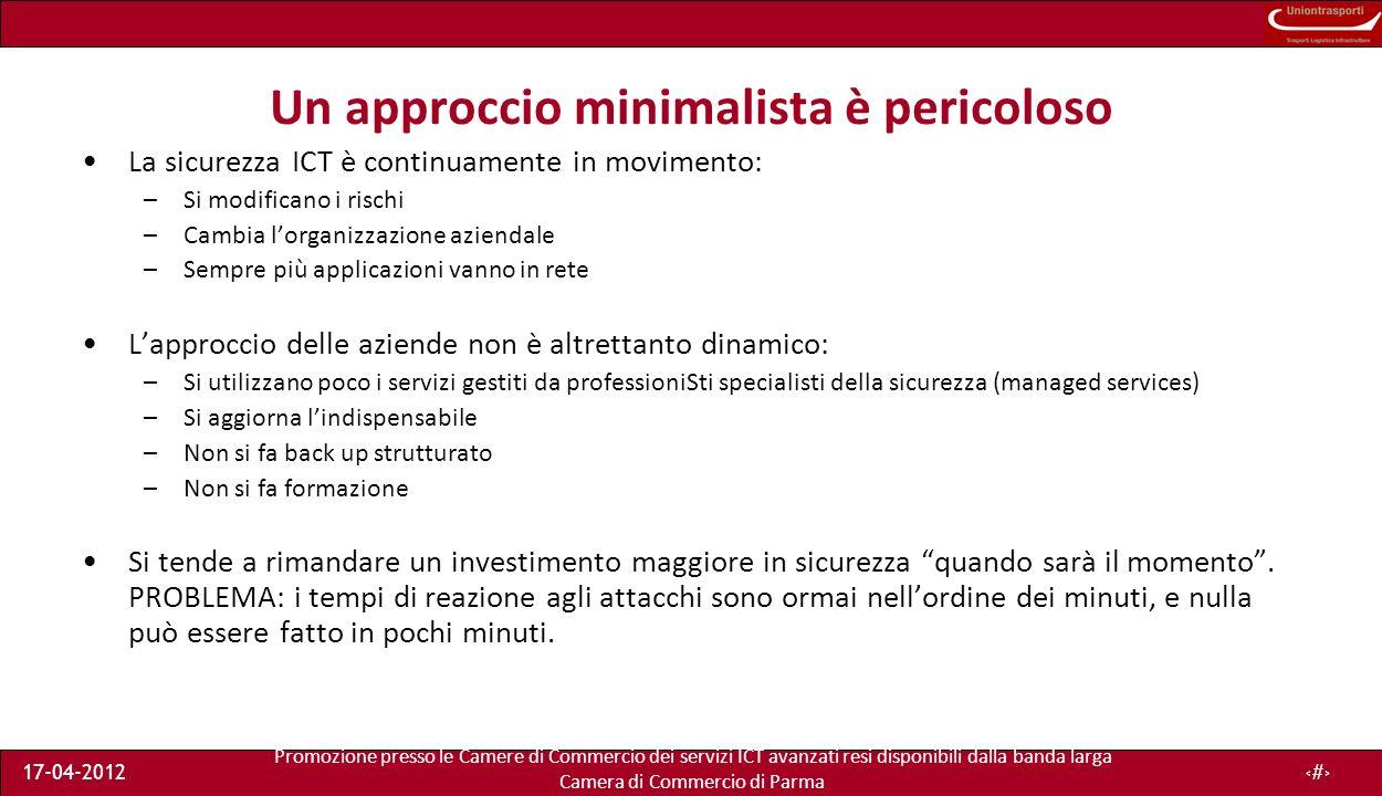 Promozione presso le Camere di Commercio dei servizi ICT avanzati resi disponibili dalla banda larga Camera di Commercio di Parma 17-04-201236 I riferimenti...