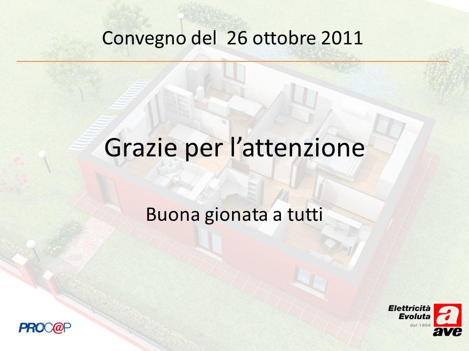 Convegno del 26 ottobre 2011 Grazie per lattenzione Buona gionata a tutti