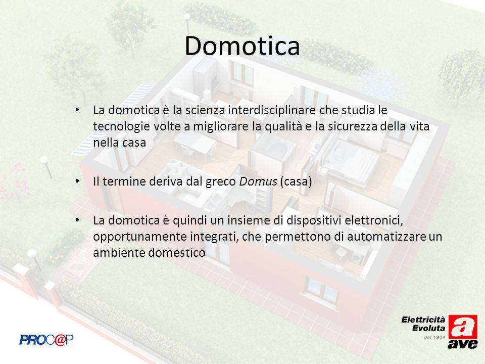 La domotica è la scienza interdisciplinare che studia le tecnologie volte a migliorare la qualità e la sicurezza della vita nella casa Il termine deri