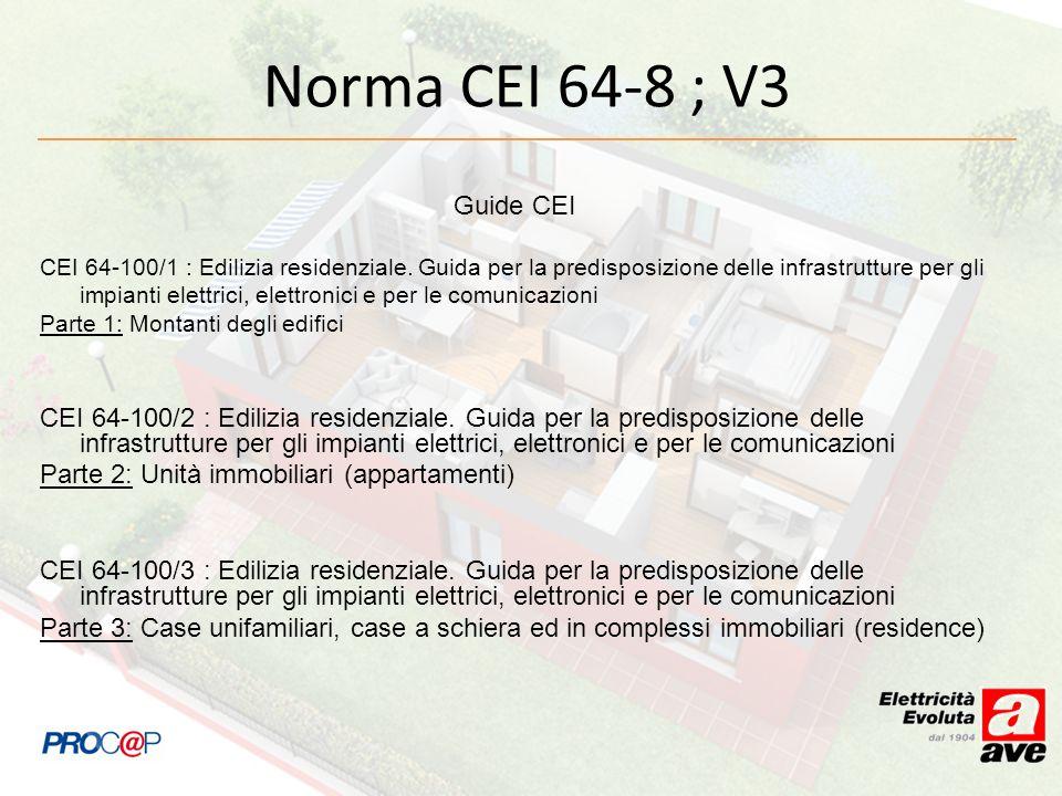 Guide CEI CEI 64-100/1 : Edilizia residenziale. Guida per la predisposizione delle infrastrutture per gli impianti elettrici, elettronici e per le com