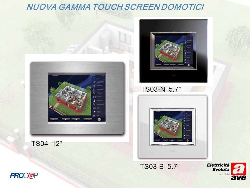 NUOVA GAMMA TOUCH SCREEN DOMOTICI TS04 12 TS03-N 5.7 TS03-B 5.7