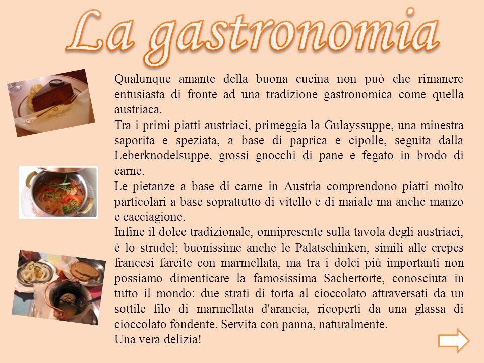 Qualunque amante della buona cucina non può che rimanere entusiasta di fronte ad una tradizione gastronomica come quella austriaca. Tra i primi piatti