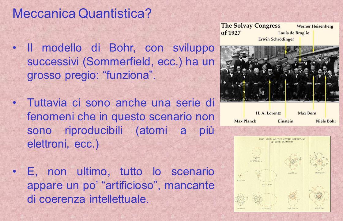 Verso la moderna meccanica quantistica… Il concetto di quantizzazione era presente sotto diversi aspetti allinizio del 900.