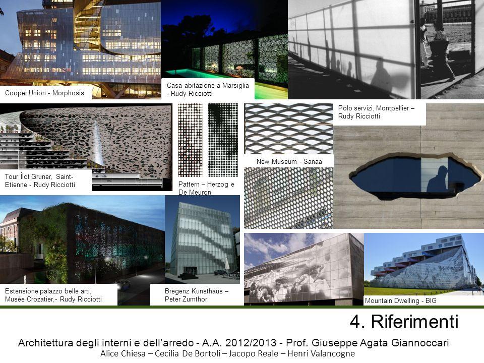 Architettura degli interni e dellarredo - A.A. 2012/2013 - Prof. Giuseppe Agata Giannoccari Alice Chiesa – Cecilia De Bortoli – Jacopo Reale – Henri V