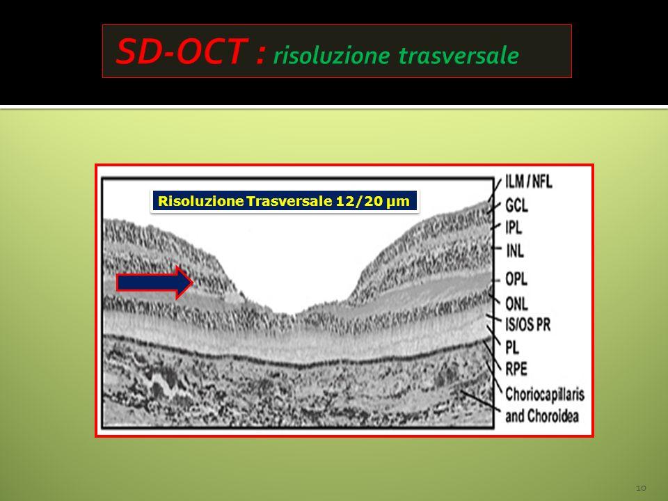 Risoluzione Trasversale 12/20 µm 10