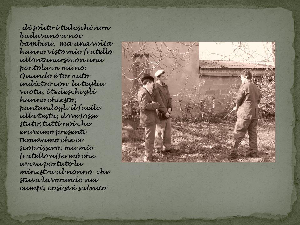 Avevo dieci anni ed ero sfollata a Gavasseto, per sfuggire ai bombardamenti in città.
