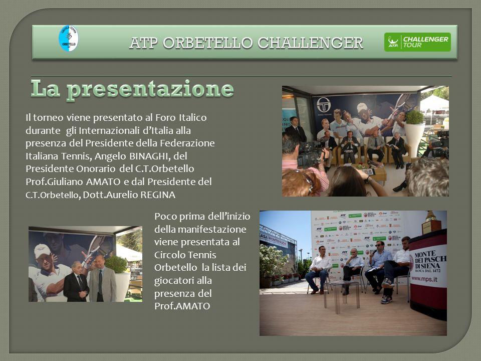 Il torneo viene presentato al Foro Italico durante gli Internazionali dItalia alla presenza del Presidente della Federazione Italiana Tennis, Angelo B