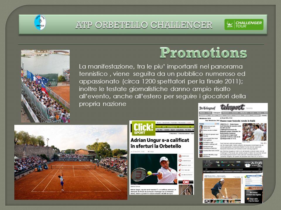 La manifestazione, tra le piu importanti nel panorama tennistico, viene seguita da un pubblico numeroso ed appassionato (circa 1200 spettatori per la