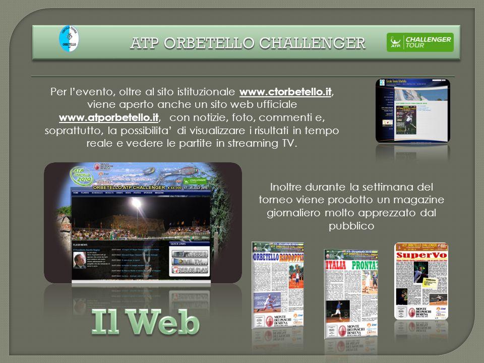 Inoltre durante la settimana del torneo viene prodotto un magazine giornaliero molto apprezzato dal pubblico Per levento, oltre al sito istituzionale