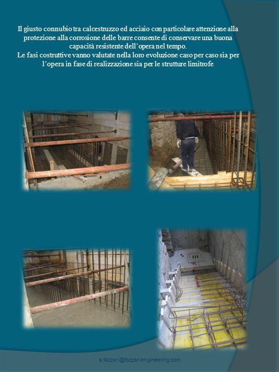 Il giusto connubio tra calcestruzzo ed acciaio con particolare attenzione alla protezione alla corrosione delle barre consente di conservare una buona capacità resistente dellopera nel tempo.