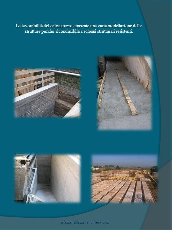 La lavorabilità del calcestruzzo consente una varia modellazione delle strutture purché riconducibile a schemi strutturali resistenti.