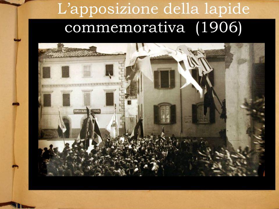 Lapposizione della lapide commemorativa (1906)