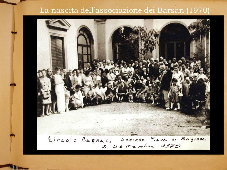 La nascita dellassociazione dei Barsan (1970)