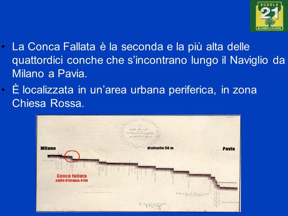 La Conca Fallata è la seconda e la più alta delle quattordici conche che sincontrano lungo il Naviglio da Milano a Pavia. È localizzata in unarea urba