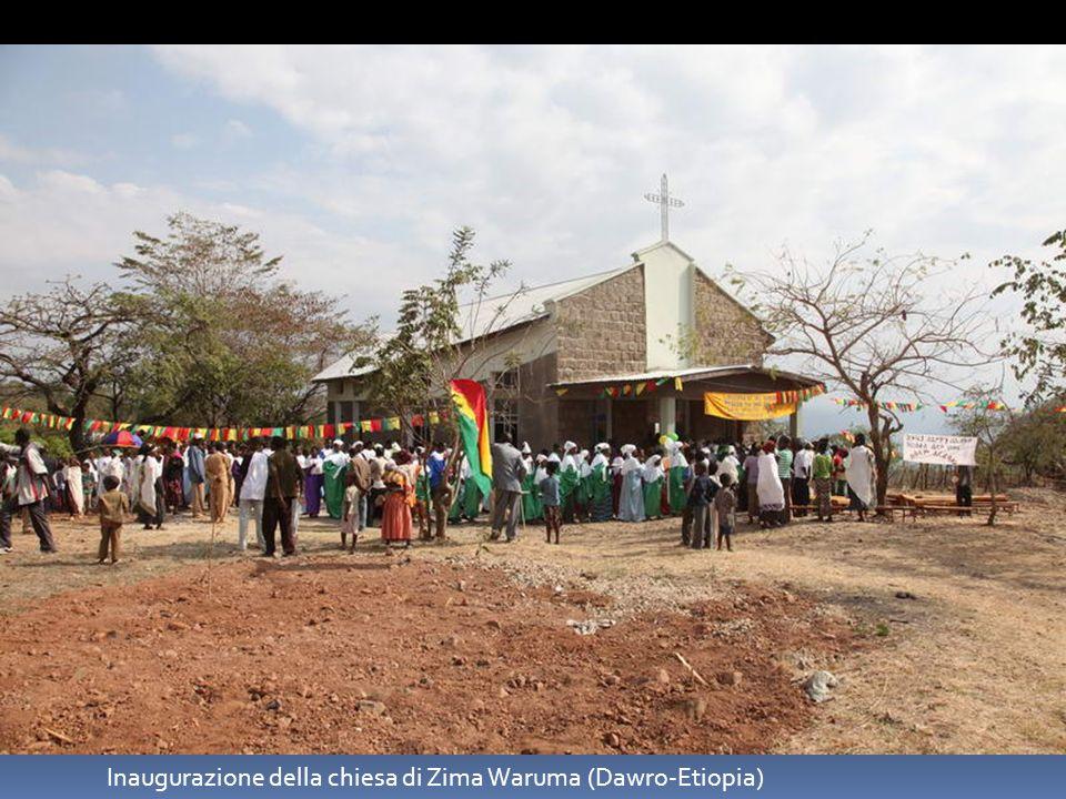 Inaugurazione della chiesa di Zima Waruma (Dawro-Etiopia)