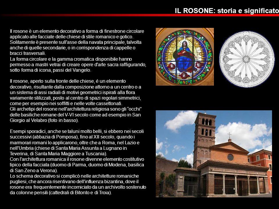 Il rosone è un elemento decorativo a forma di finestrone circolare applicato alle facciate delle chiese di stile romanico e gotico. Solitamente è pres