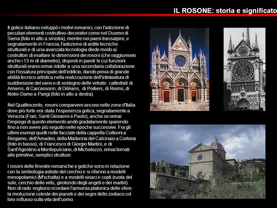 Il gotico italiano sviluppò i motivi romanici, con l'adozione di peculiari elementi costruttivo-decorativi come nel Duomo di Siena (foto in alto a sin