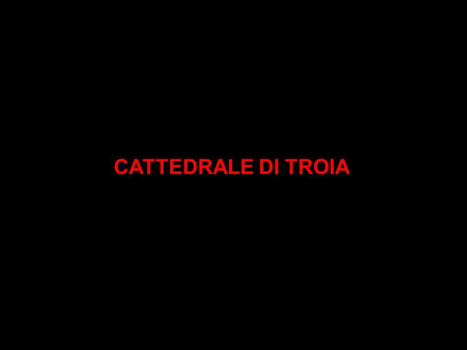 CATTEDRALE DI TROIA: storia La Cattedrale di Troia è un edificio a croce latina sito a Troia in provincia di Foggia costruito tra il 1093 e il 1125 dalle importanti peculiarità e dall indubbio interesse architettonico.