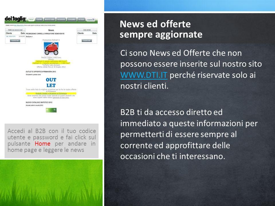 Ci sono News ed Offerte che non possono essere inserite sul nostro sito WWW.DTI.IT perché riservate solo ai nostri clienti.