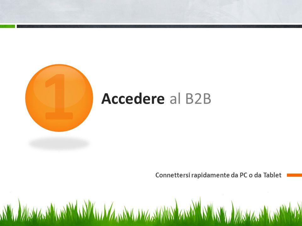 Accedere al B2B Connettersi rapidamente da PC o da Tablet 1