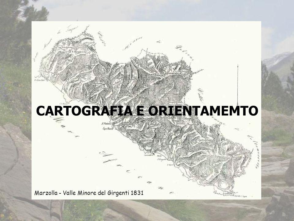 CARTOGRAFIA E ORIENTAMEMTO Marzolla - Valle Minore del Girgenti 1831