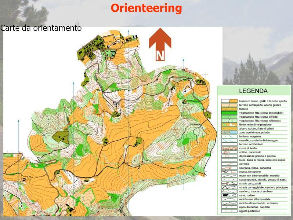 Orienteering Carte da orientamento
