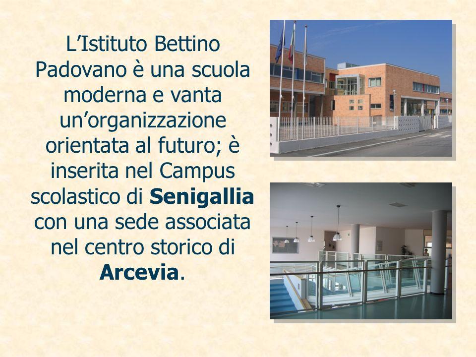 LIstituto Bettino Padovano è una scuola moderna e vanta unorganizzazione orientata al futuro; è inserita nel Campus scolastico di Senigallia con una s