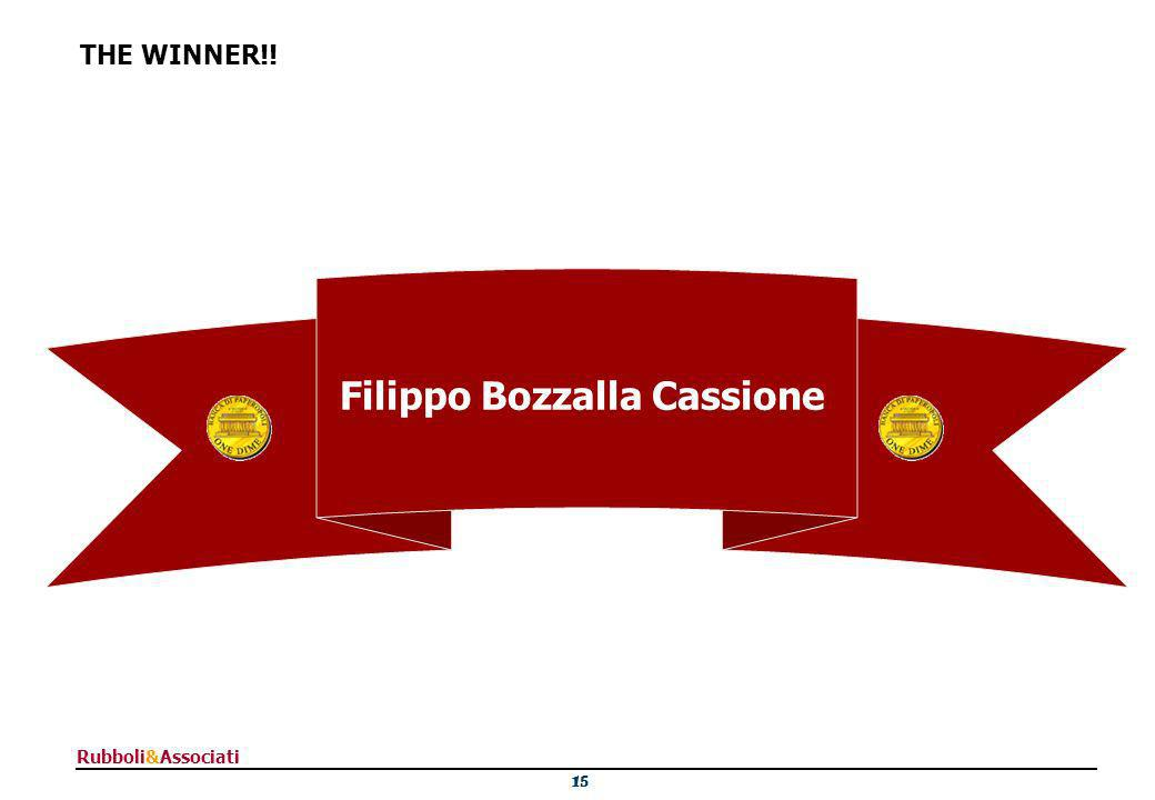 15 Rubboli&Associati THE WINNER!! Filippo Bozzalla Cassione