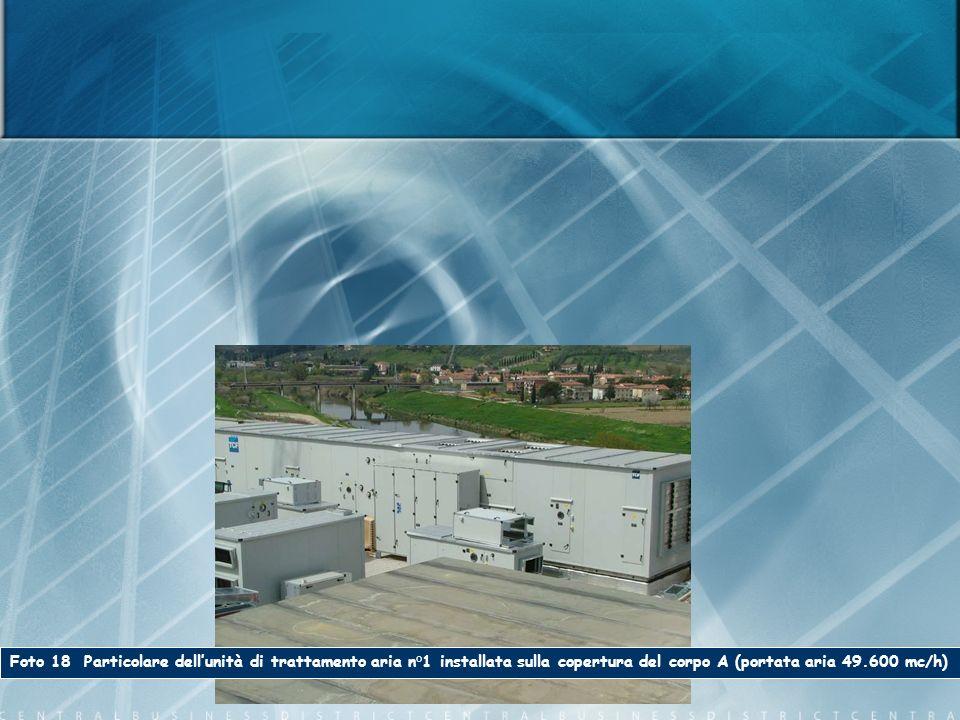 Foto 18 Particolare dellunità di trattamento aria n°1 installata sulla copertura del corpo A (portata aria 49.600 mc/h)
