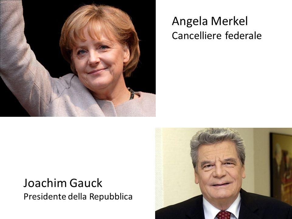 Angela Merkel Cancelliere federale Joachim Gauck Presidente della Repubblica