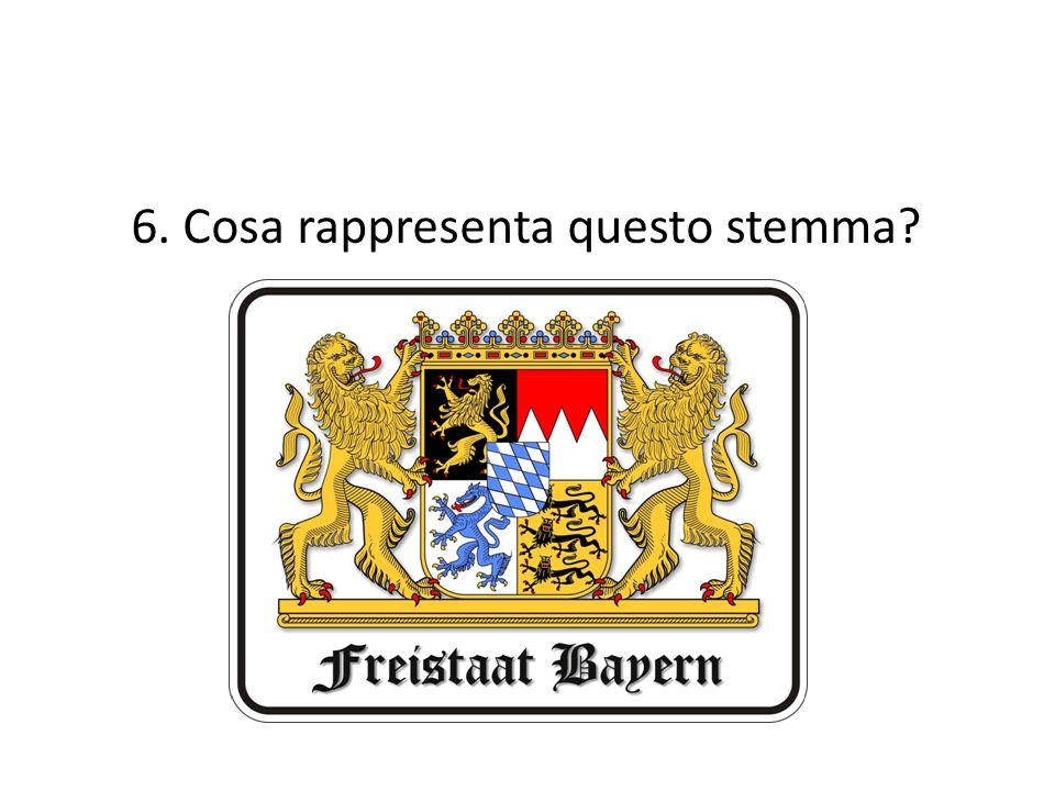 6. Cosa rappresenta questo stemma?