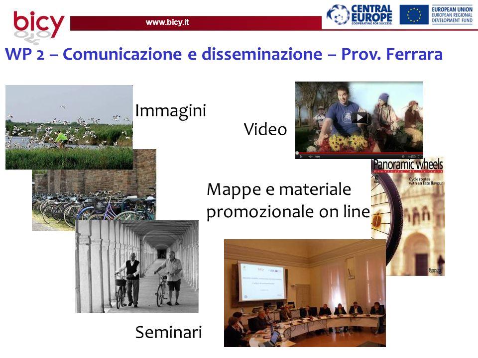 www.bicy.it WP 2 – Comunicazione e disseminazione – Prov.